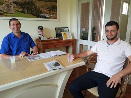 Prefeito Jocimar Valer e Vereador Felipe Dalpian (Presidente do Legislativo)
